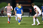 Hamilton Accies v St Johnstone …03.03.21   Fountain of Youth Stadium   SPFL<br />Craig Bryson and Brian Easton<br />Picture by Graeme Hart.<br />Copyright Perthshire Picture Agency<br />Tel: 01738 623350  Mobile: 07990 594431