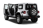 Car images close up view of a 2018 Jeep Wrangler Unlimited Sahara 5 Door SUV doors