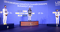 WOMEN - 800M FREESTYLE <br /> Podium<br /> ITA<br /> RUS<br /> KIRPICHNIKOVA Anastasia RUS Russia Silver Medal<br /> QUADARELLA Simona ITA ItalyGold Medal<br /> EGOROVA Anna Bronze Medal<br /> Swimming<br /> Budapest  - Hungary  18/5/2021<br /> Duna Arena<br /> XXXV LEN European Aquatic Championships<br /> Photo Giorgio Scala / Deepbluemedia / Insidefoto