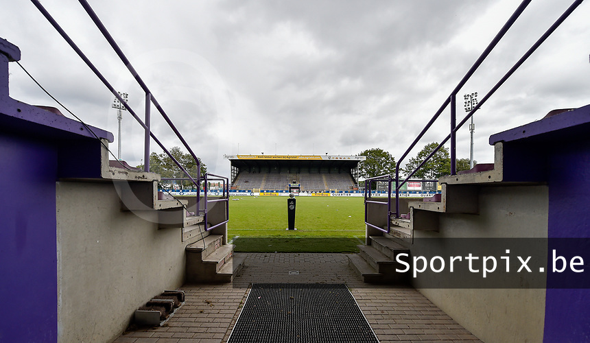 Illustration picture shows Forestier Stadium before a female soccer game between SV Zulte - Waregem and Club Brugge YLA on the fourth matchday of the 2021 - 2022 season of the Belgian Scooore Womens Super League , saturday 11 of September 2021  in Harelbeke , Belgium . PHOTO SPORTPIX | DIRK VUYLSTEKE