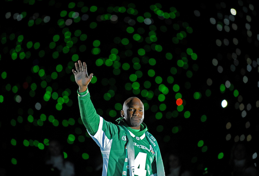 Darian Durant waves to the crowd after the last ever CFL game at Mosaic Stadium (and what turned out to be Durant's last game as a Saskatchewan Roughrider). Five generations of my family watched sporting events in that stadium. My first job was selling peanuts and popcorn there. During games I remember watching the photographers, not the players, and thinking that's what I want to do. And that's what I ended up doing, mostly for The Canadian Press, who I've covered Rider games for since 2010. It was an emotional farewell for many in attendance that night. I like to think this photo sums up the attachment many of us had to the place.