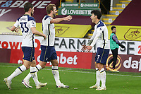 26th October 2020, Turf Moor, Burnley UK; EPL Premier League football, Burnley v Tottenham Hotspur; Goal for 0-1 from Tottenham Hotspur forward Son Heung-Min (7) as he celebrates the winning goal 0-1