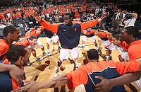 Virginia beat UNC Wilmington 69-67 Monday Jan. 18, 2010 in Charlottesville, Va.  Virginia guard/forward Solomon Tat (45) (Photo/The Daily Progress/Andrew Shurtleff)