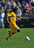 18 September 2011: University of Vermont Catamount Midfielder Malick Camara, a Sophomore from Atlanta, GA, in action against the Harvard University Crimson at Centennial Field in Burlington, Vermont. The Catamounts shut out the visiting Crimson 1-0, earning their 3rd straight victory of the 2011 season. Mandatory Credit: Ed Wolfstein Photo
