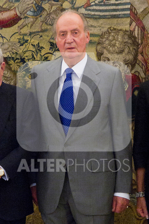25.07.2012. King Juan Carlos of Spain attends audiences wich to the Board of the Spanish Atlantic Association, chaired by Eduardo Serra Rexach. In the image Juan Carlos I(Alterphotos/Marta Gonzalez)