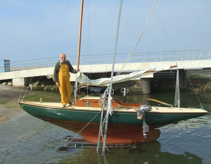 A Ballyholme Bay OD in another guise – Iolanthe on the slipway in the Isle of Wight in 2021. Photo courtesy David Tasker