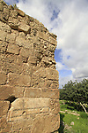 Israel, Sharon region, a Byzantine stone used in Kakun fortress