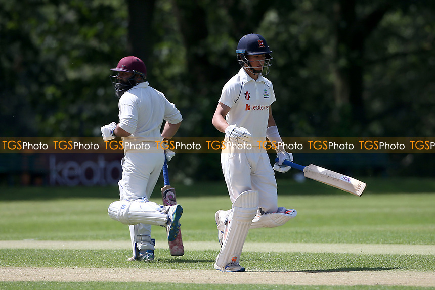 Robin Das adds to the Wanstead total during Wanstead and Snaresbrook CC vs Harold Wood CC, Hamro Foundation Essex League Cricket at Overton Drive on 17th July 2021