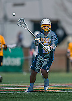 16 April 2016: University of Vermont Catamount Attacker Jack Knight, a Freshman from Greenwich, CT, in action against the University of Maryland, Baltimore County Retrievers at Virtue Field in Burlington, Vermont. The Catamounts defeated the Retrievers 14-10 in NCAA Division I play. Mandatory Credit: Ed Wolfstein Photo *** RAW (NEF) Image File Available ***