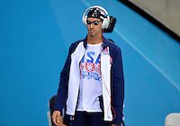 August 02, 2012..Anthony Ervin arrives to compete in Men's 50m Freestyle Semifinal at the Aquatics Center on day six of 2012 Olympic Games in London, United Kingdom.