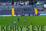 Colin McGillycuddy, Mid Kerry in action against David Shaw, Dr. Crokes during the Kerry County Senior Football Championship Semi-Final match between Mid Kerry and Dr Crokes at Austin Stack Park in Tralee, Kerry.
