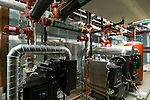 Mechanical room and piping, Casey Condominiums, Portland, Oregon