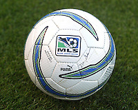 20005 MLS match ball by Puma shot before the match between the San Jose Earthquakes and New England Revolution on April 2, 2005 at Spartan Stadium in San Jose, California.
