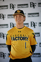 Fisher Pyatt (1) of St. Augustine High School in San Diego, California during the Baseball Factory All-America Pre-Season Tournament, powered by Under Armour, on January 12, 2018 at Sloan Park Complex in Mesa, Arizona.  (Zachary Lucy/Four Seam Images)