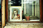 Buenos Aires Argentina South America BsAs. Shop window San  Telmo district. 2000s 2002