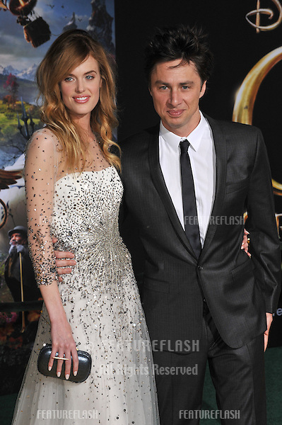 """Zach Braff & girlfriend Taylor Bagley at the world premiere of his movie """"Oz: The Great and Powerful"""" at the El Capitan Theatre, Hollywood..February 13, 2013  Los Angeles, CA.Picture: Paul Smith / Featureflash"""