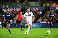 Mike van der Hoorn of Swansea City during the Sky Bet Championship match between Swansea City and Leeds United at the Liberty Stadium, Swansea, Wales, UK. Tuesday 21 August 2018
