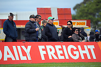Fans watch the Mitre 10 Cup Cup rugby match between Manawatu Turbos and Southland Stags at Manfeild Park in Feilding, New Zealand on Saturday, 1 November 2020. Photo: Dave Lintott / lintottphoto.co.nz