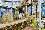 Maze of bunkers.  Abandoned military gunnery bunkers at Fort Worden State Park, Port Townsend, WA.  Cubist, abstract, representaional.