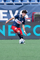FOXBOROUGH, MA - JULY 4: Michael Tsicoulias #52 of the New England Revolution II during a game between Greenville Triumph SC and New England Revolution II at Gillette Stadium on July 4, 2021 in Foxborough, Massachusetts.