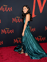 """LOS ANGELES, CA: 09, 2020: Xana Tang at the world premiere of Disney's """"Mulan"""" at the El Capitan Theatre.<br /> Picture: Paul Smith/Featureflash"""