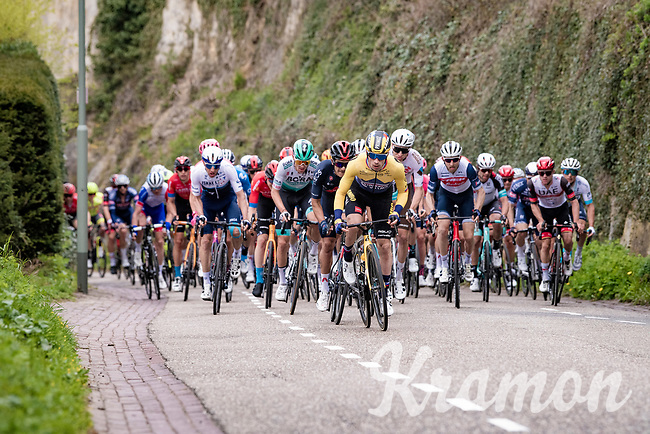 Primož Roglič (SVN/Jumbo-Visma) kicking some ass up the Geulhemmerberg<br /> <br /> 55th Amstel Gold Race 2021 (1.UWT)<br /> 1 day race from Valkenburg to Berg en Terblijt; raced on closed circuit (NED/217km)<br /> <br /> ©kramon