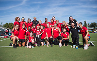 Cary, NC - October 21, 2017: The USWNT trains at WakeMed Soccer Park.