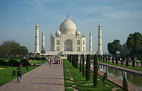 Tourist at the Taj Mahal Agra, India
