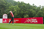 Jin Young Ko of South Korea tees off at the 15th hole during Round 3 of the World Ladies Championship 2016 on 12 March 2016 at Mission Hills Olazabal Golf Course in Dongguan, China. Photo by Victor Fraile / Power Sport Images
