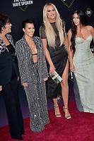 SANTA MONICA, USA. November 11, 2019: Kourtney Kardashian, Khloe Kardashian & Kim Kardashian at the 2019 E! People's Choice Awards at Santa Monica Barker Hangar.<br /> Picture: Paul Smith/Featureflash