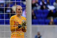 HARRISON, NJ - MARCH 08: Ellie Roebuck #13 of England during a game between England and Japan at Red Bull Arena on March 08, 2020 in Harrison, New Jersey.