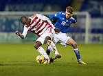 St Johnstone v Hamilton Accies…30.12.20   McDiarmid Park     SPFL<br />Hakeem Odoffin and David Wotherspoon <br />Picture by Graeme Hart.<br />Copyright Perthshire Picture Agency<br />Tel: 01738 623350  Mobile: 07990 594431