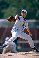 Jim Parque of the UCLA Bruins during a game at Dedeaux Field in Los Angeles, California during the 1997 season.(Larry Goren/Four Seam Images)