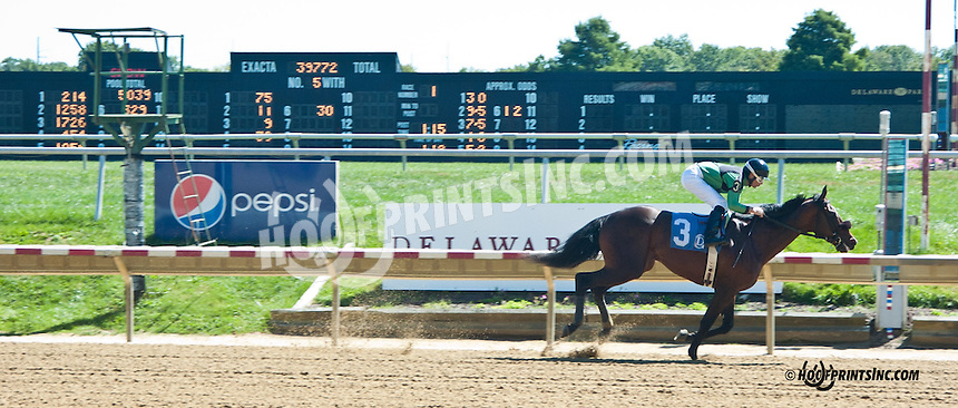 Gambit's Delight winning at Delaware Park on 9/18/13