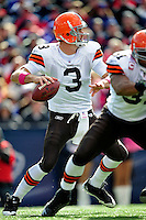 11 October 2009: Cleveland Browns' quarterback Derek Anderson sets to pass during a game against the Buffalo Bills at Ralph Wilson Stadium in Orchard Park, New York. The Browns defeated the Bills 6-3 for Cleveland's first win of the season...Mandatory Photo Credit: Ed Wolfstein Photo