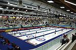 Le gare di curling di Torino 2006 a Pinerolo. The Torino 2006 Curling match.