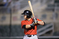 Tyler Sullivan (5) of the Kannapolis Intimidators at bat against the Hagerstown Suns at Kannapolis Intimidators Stadium on May 4, 2016 in Kannapolis, North Carolina.  The Intimidators defeated the Suns 7-4.  (Brian Westerholt/Four Seam Images)