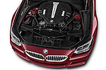 High angle engine detail of a  2014 BMW 6 Series Coupe