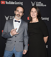 LOS ANGELES- DECEMBER 12: (L-R) Sebastien Renard and Aurelle Belzanne attend the Game Awards 2019 at the Microsoft Theater on December 12, 2019 in Los Angeles, California. (Photo by Scott Kirkland/PictureGroup)