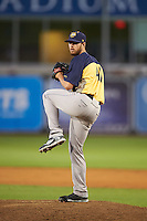 Burlington Bees relief pitcher Eric Karch (41) during a game against the West Michigan Whitecaps on July 25, 2016 at Fifth Third Ballpark in Grand Rapids, Michigan.  West Michigan defeated Burlington 4-3.  (Mike Janes/Four Seam Images)