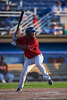 Mahoning Valley Scrappers outfielder Silento Sayles (9) at bat during the second game of a doubleheader against the Batavia Muckdogs on July 2, 2015 at Dwyer Stadium in Batavia, New York.  Mahoning Valley defeated Batavia 3-0.  (Mike Janes/Four Seam Images)