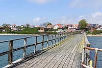Seebrücke von Arnager auf der Insel Bornholm, Dänemark, Europa<br /> Arnager pier, Isle of Bornholm Denmark