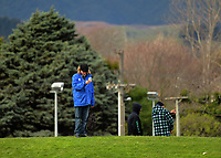 Journalist Adam Julian at the Mitre 10 Cup preseason rugby match between the Wellington Lions and Manawatu Turbos at Otaki Domain in Otaki, New Zealand on Sunday, 6 August 2017. Photo: Dave Lintott / lintottphoto.co.nz