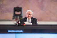 Bundespraesident Frank-Walter Steinmeier sprach am Freitag den 5. Maerz 2021 in seinem Amtssitz Schloss Bellevue mit Hinterbliebenen, die waehrend der Corona-Pandemie Angehoerige verloren haben.<br /> Im Bild: <br /> 5.3.2021, Berlin<br /> Copyright: Christian-Ditsch.de