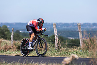 another strong performance of Thomas De Gendt (BEL/Lotto Soudal). He will eventually set the 3th fastest time. <br /> <br /> <br /> Stage 13: ITT - Pau to Pau (27.2km)<br /> 106th Tour de France 2019 (2.UWT)<br /> <br /> ©kramon