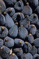 Europe/France/Provence-Alpes-Côte d'Azur/84/Vaucluse/Vaison-la-Romaine: Détail d'un étal de figues sur le marché