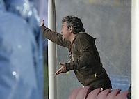 BOGOTÁ -COLOMBIA, 16-03-2014. Juan Manuel Lillo técnico de Millonarios gesticula durante partido contra Itaguí por la fecha 11 de la Liga Postobón  I 2014 jugado en el estadio Nemesio Camacho el Campín de la ciudad de Bogotá./ Millonarios coach Juan Manuel Lillo gestures during match against Itagui for the 11th date of the Postobon  League I 2014 played at Nemesio Camacho El Campin stadium in Bogotá city. Photo: VizzorImage/ Gabriel Aponte / Staff