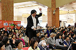 """December 29, 2016, Tokyo, Japan - Some 220 amateur chorus group singers perform Beethoven's Symphony No.9 """"Choral"""" to attract year-end shoppers at a stairwell of Tokyo's Mitsukoshi department store on Tuesday, December 29, 2016.  The department store held the 32nd annual event for year-end shoppers, a tradition at this time of year before the New Year holiday.  (Photo by Yoshio Tsunoda/AFLO) LWX -ytd-"""