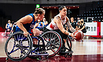 Cindy Ouellet, Tokyo 2020 - Wheelchair Basketball // Basketball en fauteuil roulant.<br /> Canada takes on the USA in the wheelchair basketball quarterfinal // Le Canada affronte les États-Unis en quart de finale de basketball en fauteuil roulant. 31/08/2021.