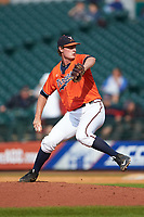 Virginia Cavaliers relief pitcher Tommy Doyle (16) in action against the Duke Blue Devils in Game Seven of the 2017 ACC Baseball Championship at Louisville Slugger Field on May 25, 2017 in Louisville, Kentucky. The Blue Devils defeated the Cavaliers 4-3. (Brian Westerholt/Four Seam Images)